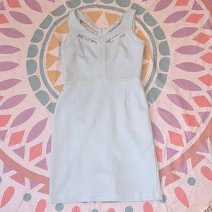 Gianni bini baby blue sleeveless dress